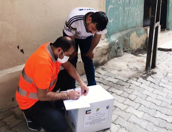 Kuveytli hayırseverlerden gıda yardımı