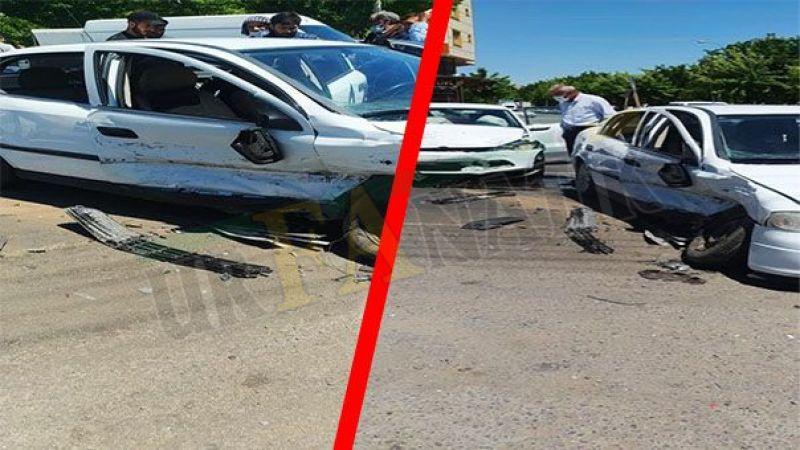 Siverek'te iki araç çarpıştı: Yaralılar var