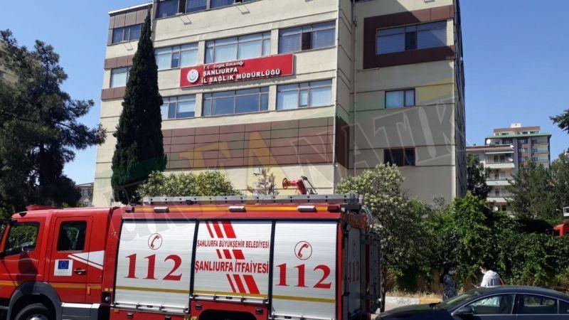 Urfa   Halk Sağlığı binasında yangın!