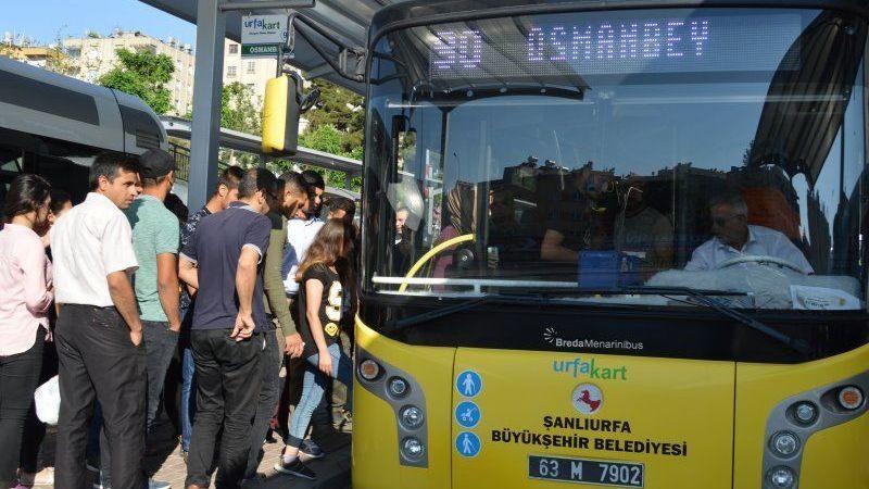 Urfa'da toplu taşıma saatlerinde değişiklik