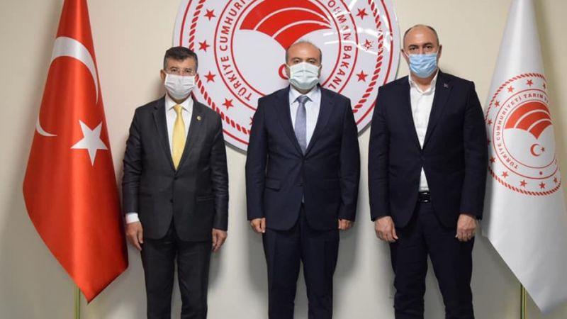 Vekil Cevheri ve Başkan Aksoy'dan, bakan yardımcısına ziyaret