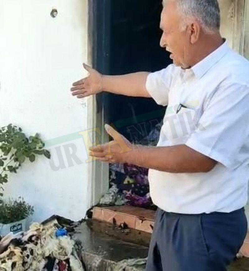 Urfa'da evde bulunan eşyalar yanarak kül oldu!