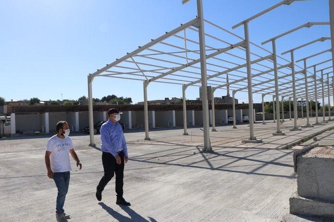 Başkan Aksoy'dan inşaat alanında inceleme
