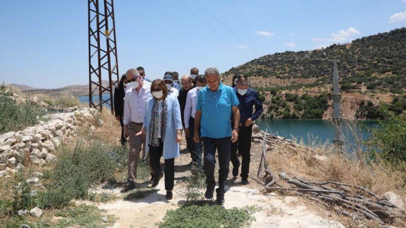 Gaziantep yönetimi Halfeti'de incelemede bulundu!