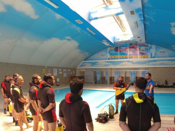 Şanlıurfa'da tüplü dalış eğitimi verildi
