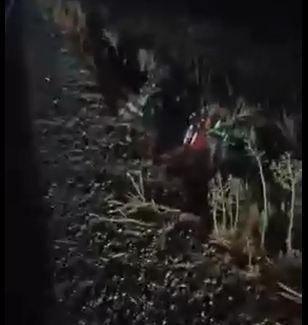 Urfa'da kontrolden çıkan motosiklet şarampole uçtu!