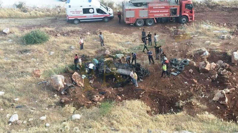 Halfeti'de feci kaza! 100 metrelik uçurumdan yuvarlandı