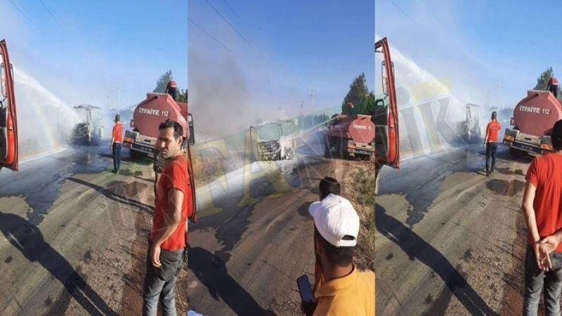 Urfa'da yürekler ağza geldi! Seyir halinde cayır cayır yandı