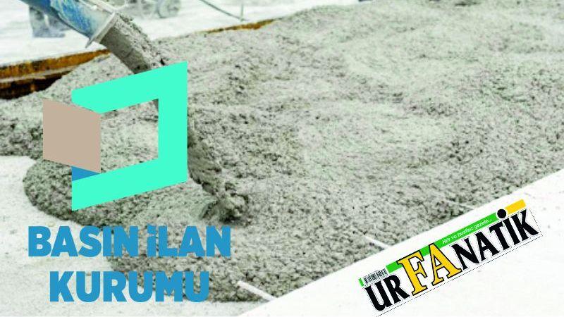 Hazır beton satın alınacaktır
