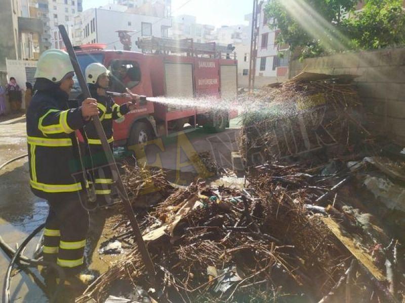 Urfa'da odunluk yangını paniğe neden oldu!