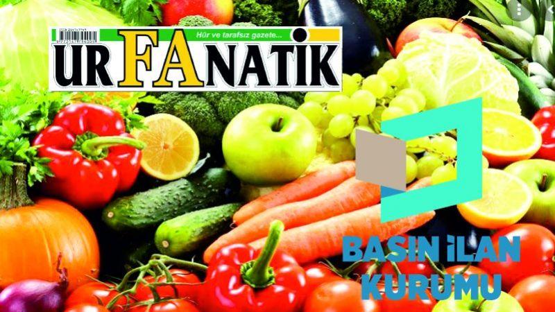 Sebze ve meyve alımı