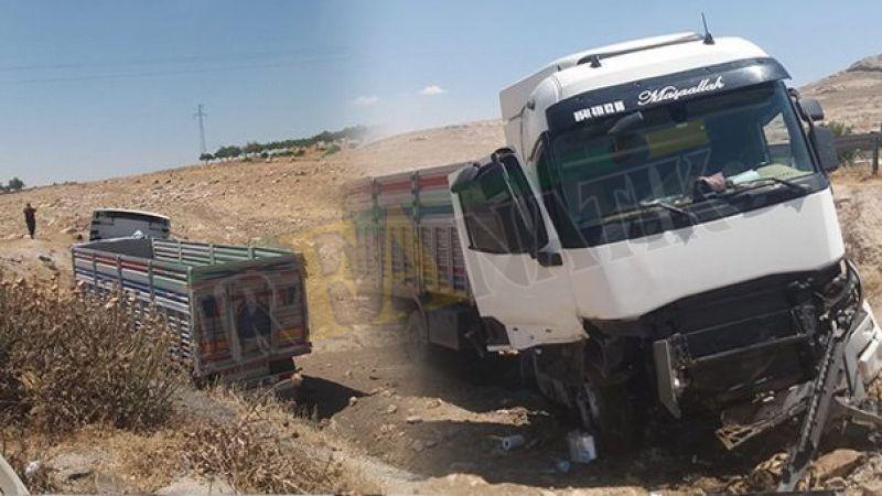 Mardin yolunda tır kazası