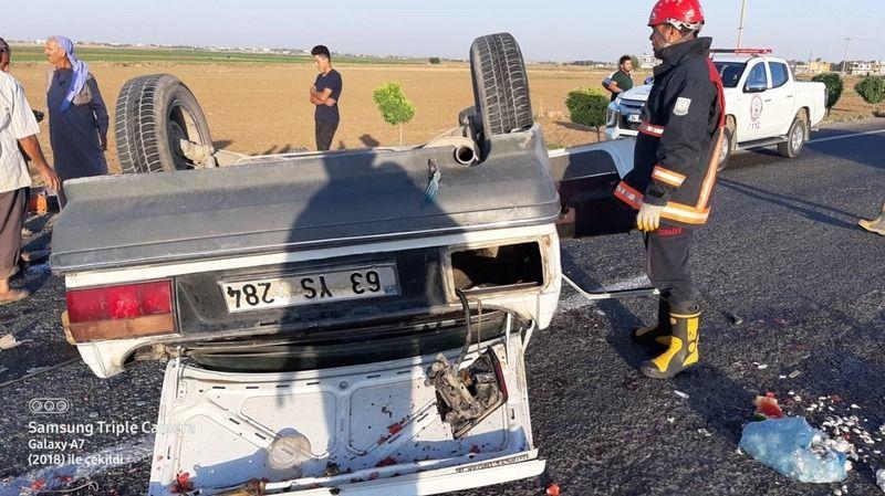 Akçakale yolunda sıkışmalı kaza