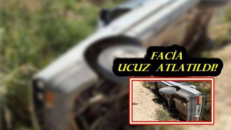 Urfa'da otomobil, kontrolden çıkıp şarampole uçtu!