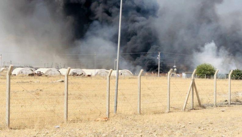 Ceylanpınar'da korkutan yangın: Çok  sayıda ekip sevk edildi