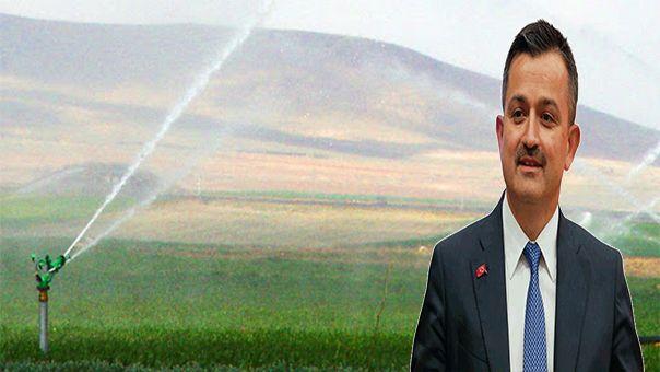 Bakan Pakdemirli duyurdu! Urfa'da 260 hektar arazi sulanacak