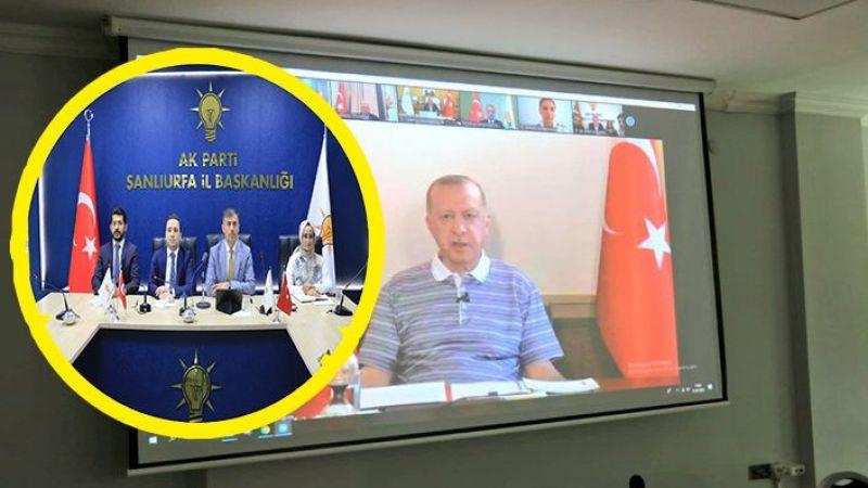 AK Parti Urfa Teşkilatı Erdoğan'la Bayramlaştı