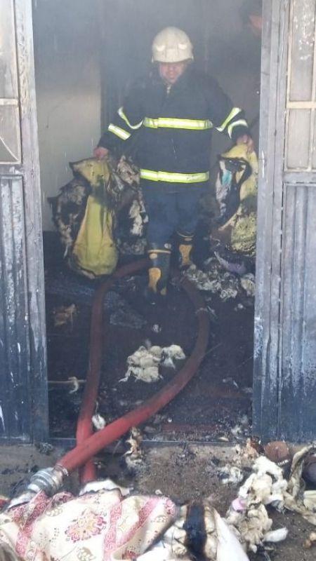 Urfa'da çıkan yangında eşyalar kül oldu