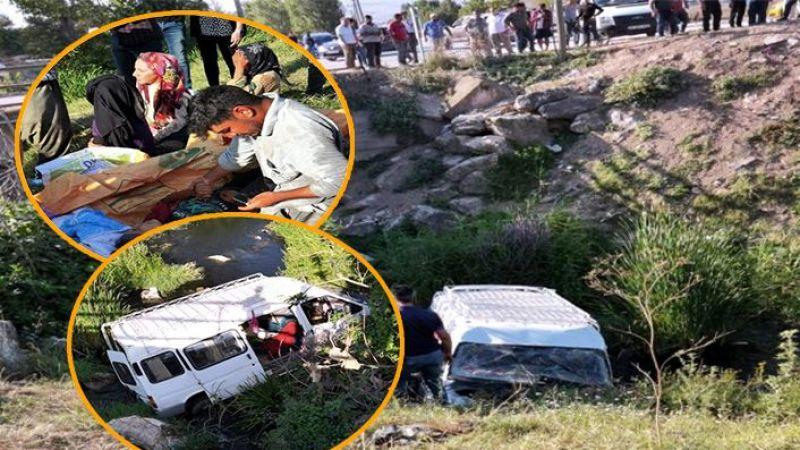 Urfalı İşçileri taşıyan minibüs dereye uçtu: Yaralılar var