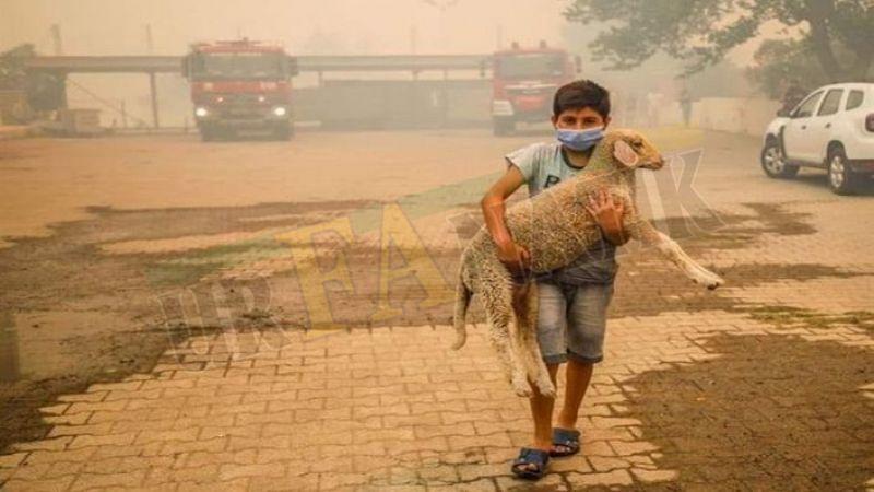 Manavgat'taki yangının simgelerinden biri Urfalı Ahmet Delen