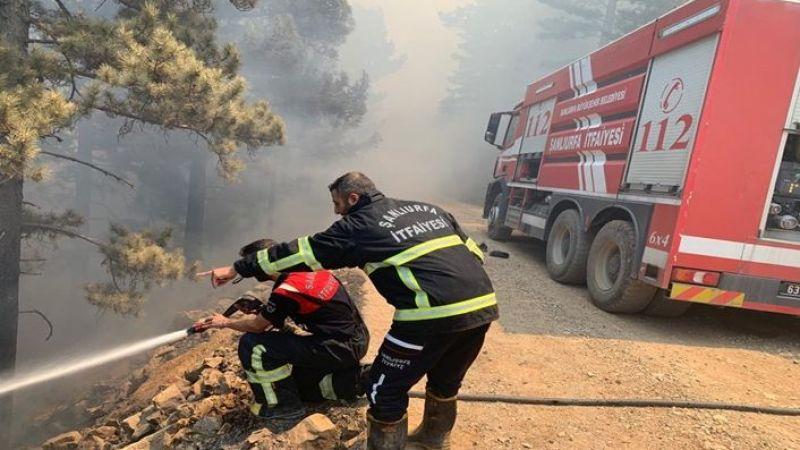 Urfa'dan giden İtfaiye ekipleri Manavgat'ta