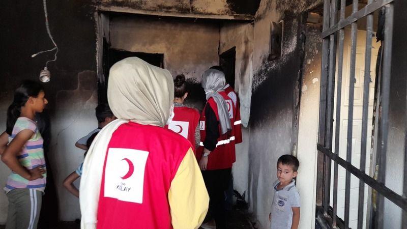Şanlıurfa'da evleri yanan aileye destek: Büyük sevinç!