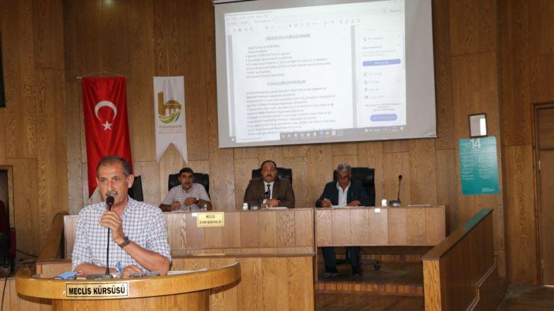 Belediye meclisinde yoğun gündem