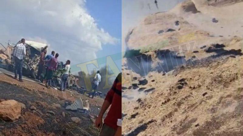 Siverek'te anız yangını kazaya neden oldu: 1 yaralı