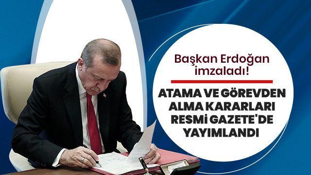 Cumhurbaşkanlığı Atama Kararları Resmi Gazete' de
