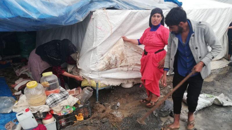 Urfalı işçilerin yürek burkan dramı: Çadırları sular altında kaldı