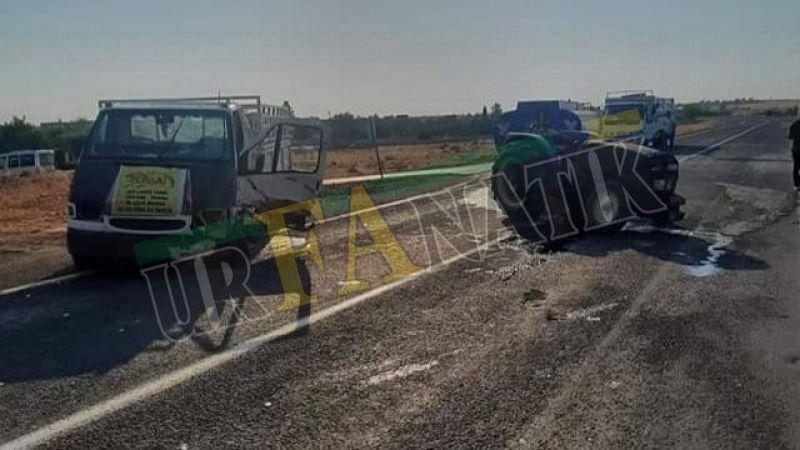 Bozova'da pikap ile traktör çarpıştı: 1 yaralı