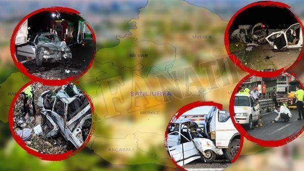 Urfa'da kaza bilançosu açıklandı! Trafik canavarı 7 cana mal oldu