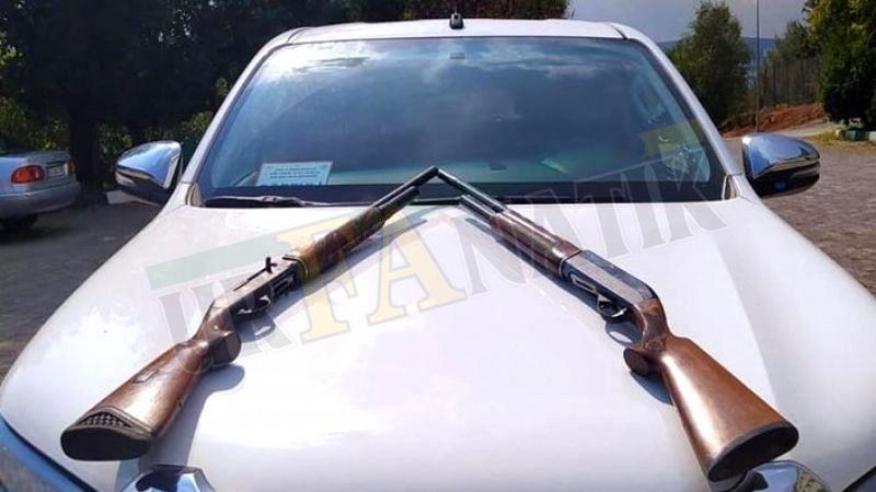 Karaköprü'de av tüfekleriyle birlikte yakalandılar