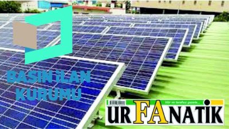 Güneş enerjisi sistemleri satın alınacaktır