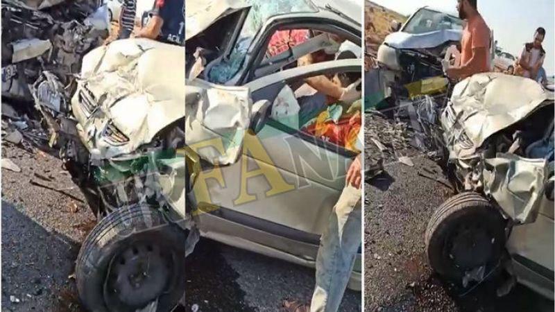 Urfa'da İki otomobil kafa kafaya çarpıştı! Ölü ve yaralılar var