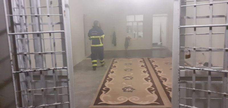 Urfa'daki evin mutfağında yangın