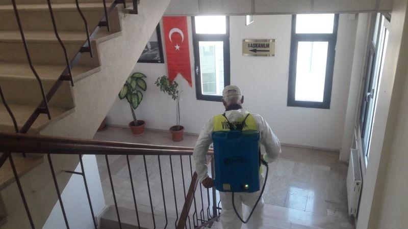 Viranşehir Belediyesinden dezenfekte işlemi