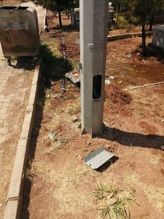 Şanlıurfa'da hırsızlar mezarlığa dadandı!
