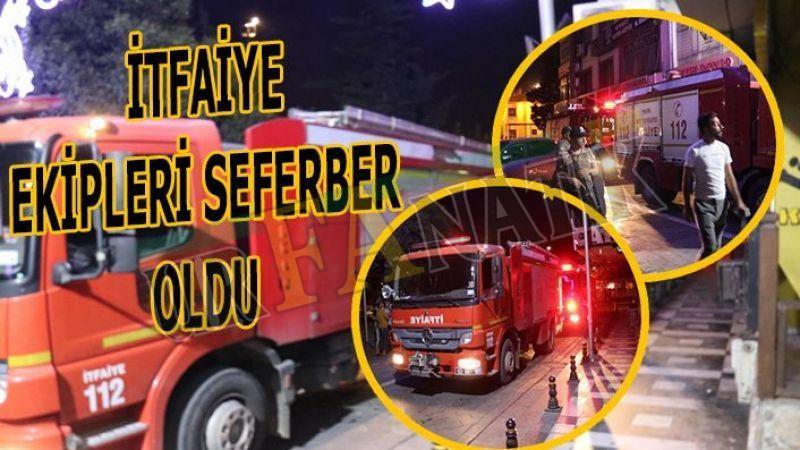 Urfa'da iş merkezinin çatı katında yangın