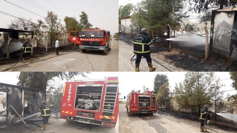 Urfa'da boşaltılan çadır kentte yangın çıktı