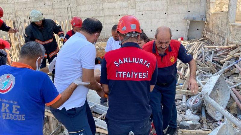 Şanlıurfa'da inşaat kazası: Düştüğü çukurdan çıkamadı!