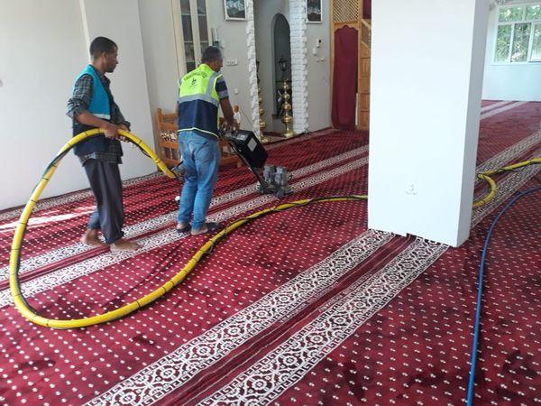 Viranşehir'deki  ibadethanelerde  temizlik çalışması