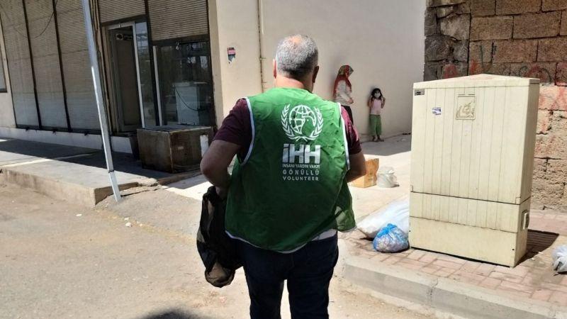 Siverek'teki Kovid-19 hastalarına gıda desteği