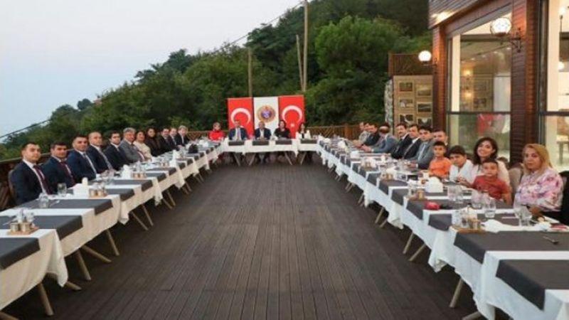 Ordu'dan Bozova'ya atanan Kaymakam Oruç'a veda yemeği