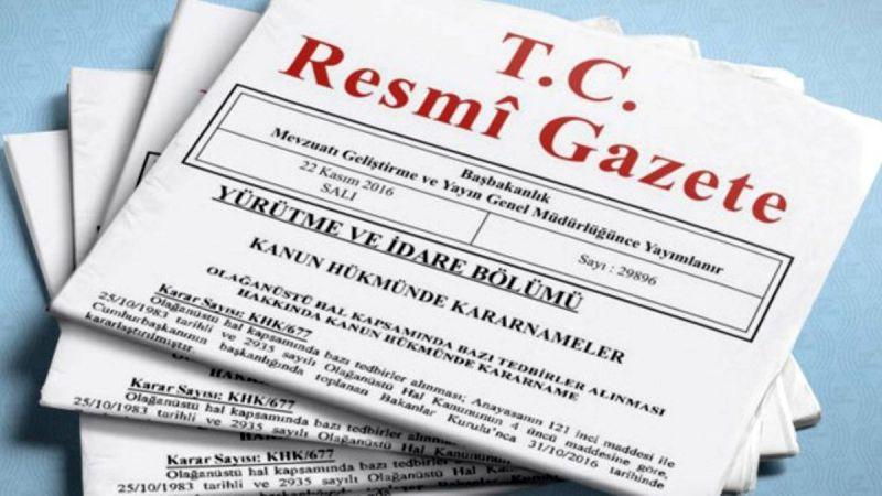 Atama kararları Resmi Gazete'de yayımlandı!