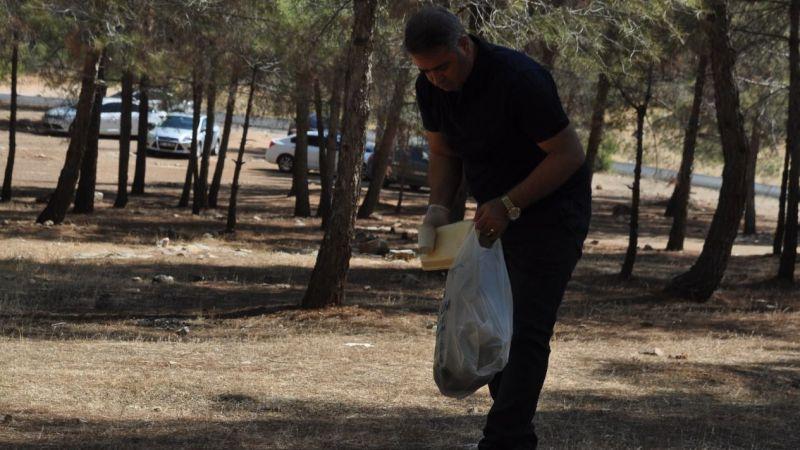 Urfa'da poşet poşet çöp topladılar
