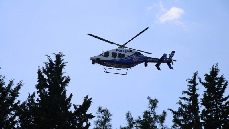 Şanlıurfa'da helikopter destekli trafik denetimi