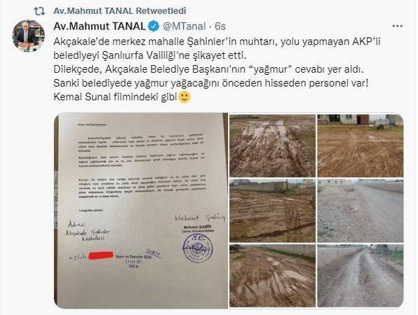 Urfa'daki Belediye 'Kemal Sunal' filmi gibi: ''Yağmur yağmayacak!''