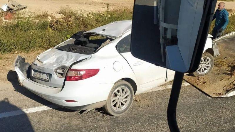 Urfa'da otomobil takla attı