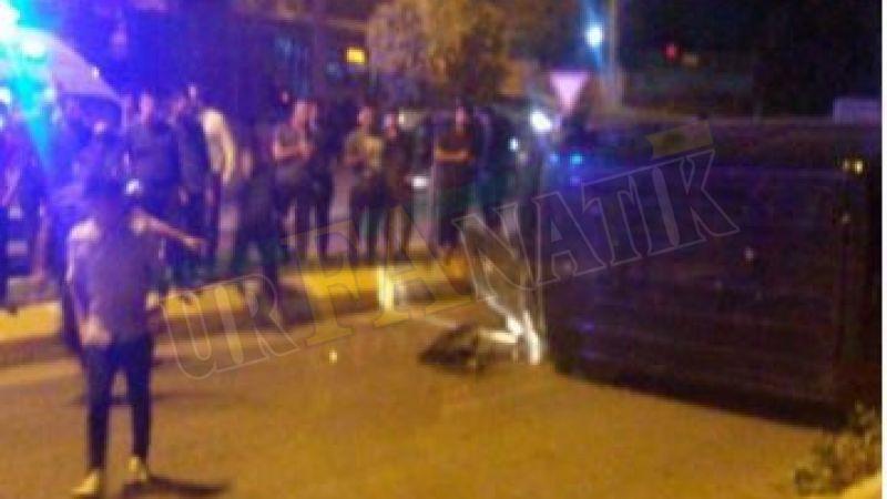 Şanlıurfa'da otomobil orta refüje çarpıp devrildi : Yaralılar var